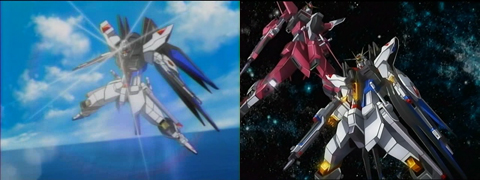 Gundam Seed Destiny - Strike Freedom and Infinite Justice
