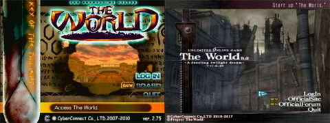 The World R:1 and The World R:2 Login Screen