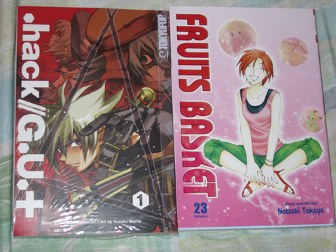 Fruits Basket vol 23 & .hack//GU+ vol 1